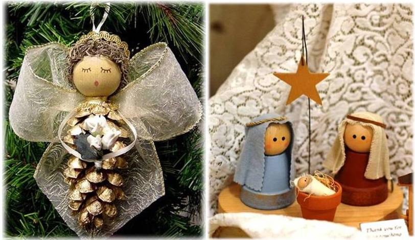 Angel & nativity craft